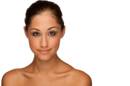 Beauty portrait of a cute brunette caucasian girl Stock Photo - 14977050