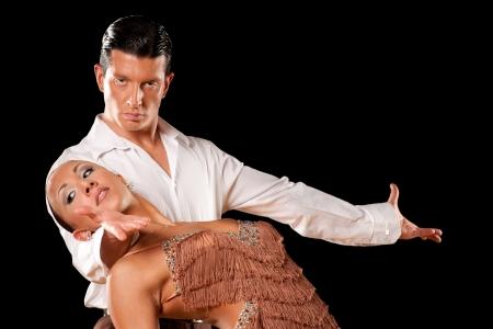 Pareja de baile latino en acción Foto de archivo - 15365834