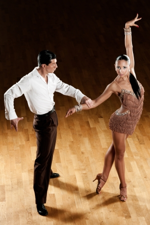 latino dance couple in action Stock Photo - 15365842