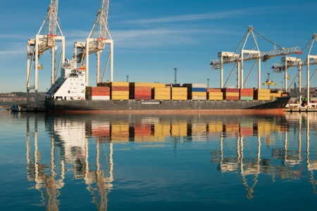 Cargo sea port. Sea cargo cranes. Sea. Stock Photo - 17216184