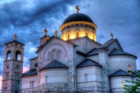 ortodox: Ortodox church of the Resurrection of Christ in Podgorica Montenegro
