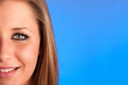 Closeup photo of a preety womans face Stock Photo - 21526999