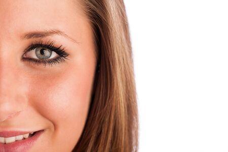 Closeup photo of a preety womans face Stock Photo - 21527001