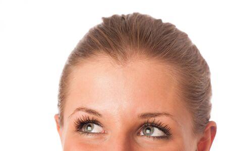 Closeup photo of a preety womans face Stock Photo - 21527002