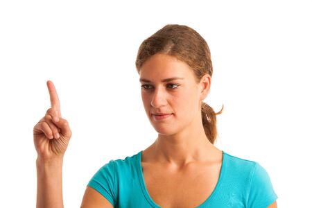 wag: woman gesturing naughty sign