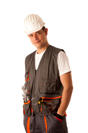 lazyness: Lazy worker with hands in his pockets Stock Photo