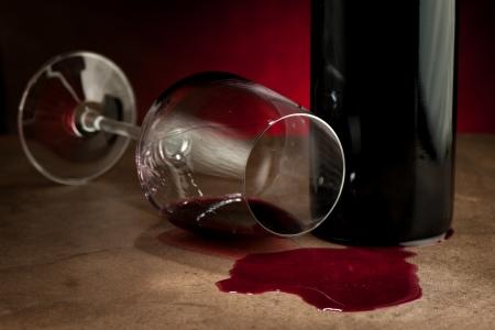 Spillde ワイン パーティーの後 写真素材