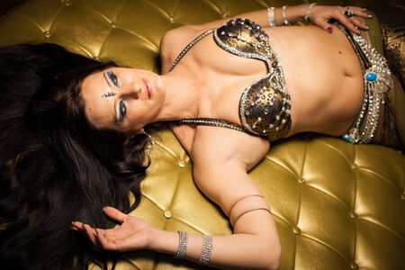sexy indian girl: belly dancer Stock Photo
