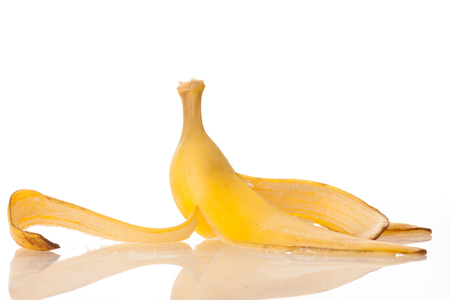 banana skin: banana skin on a white background