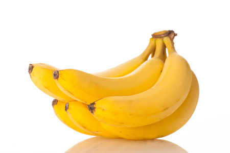 Bunch of bananas isolated over white background