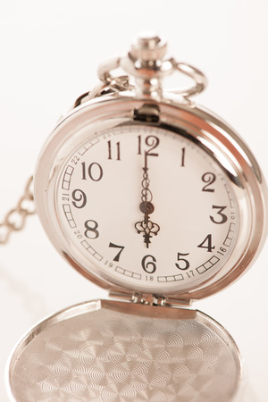 watch over: Pocket watch over white