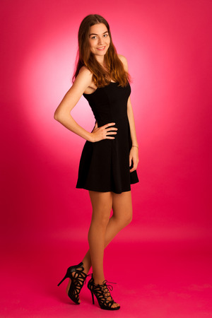 attractive young woman -  full length portrait of a beautiful girl