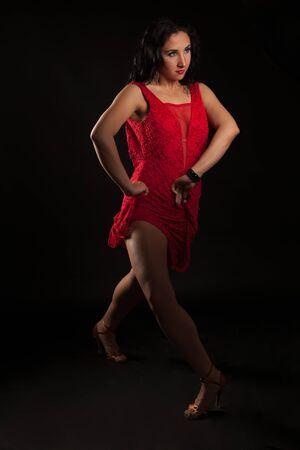 Beautiful woman flamenco dancer studio photography Stock Photo
