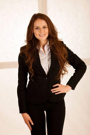 attractive business woman portrait photo