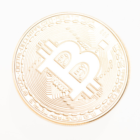 Bitcoin cryptocurrency  isolated over white background Stock Photo