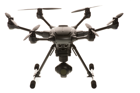 Studio isolated photo of heksacopter drone Stock Photo