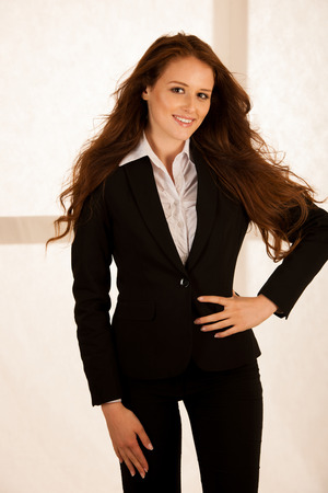 attractive business woman portrait photo