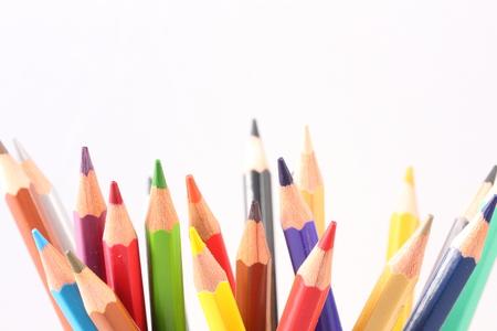 solid line: color pencil