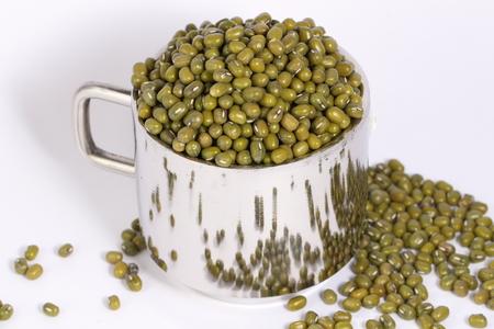gram: Green gram beans Stock Photo