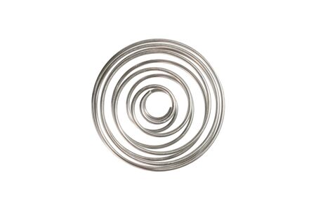 Wire shaker ball, stainless spring, isolated on white background Stock Photo