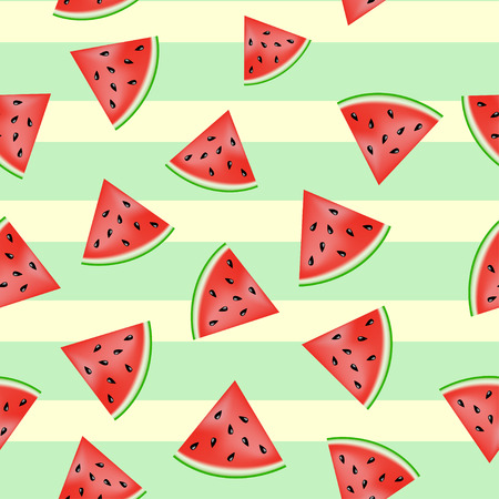 watermelon: Lovely pieces of watermelon pattern - illustration