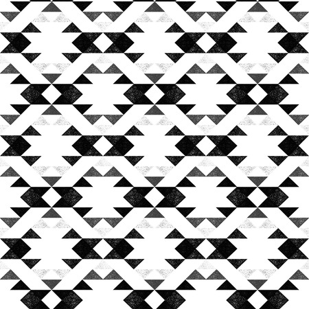Navajo ethnic monochrome pattern on white background - vector illustration. Фото со стока - 56306103