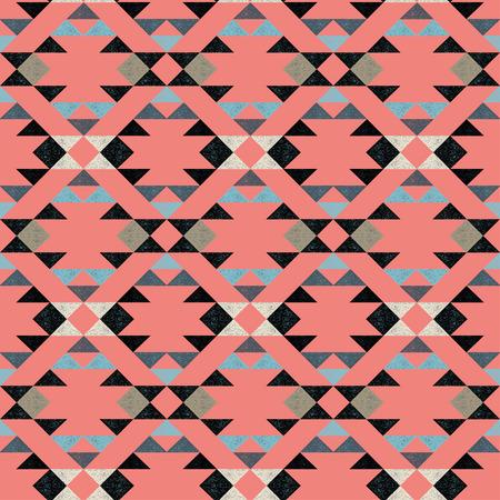 Navajo ethnic pattern on pink background- vector illustration. Фото со стока - 56306105