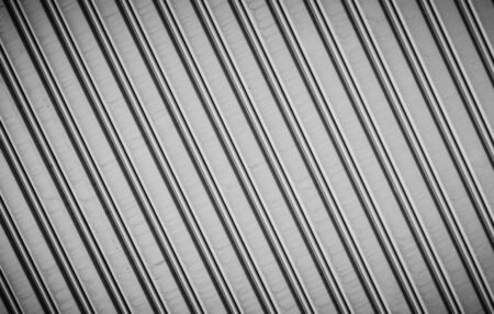 corrugated iron: Background of stainless steel door with black and white color Stock Photo