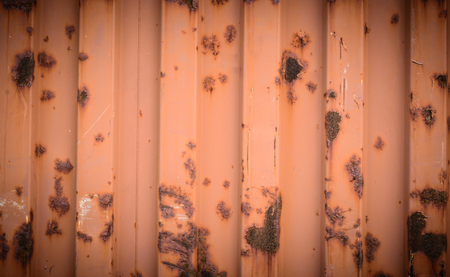old container: Background and texture of the old container with rust