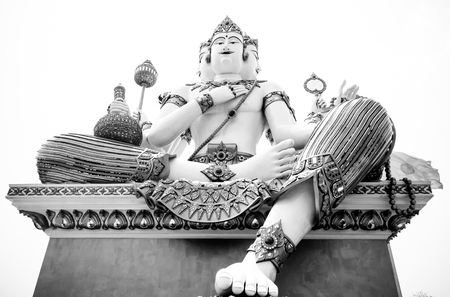 god's cow: Large Deity,Deva with black and white color Stock Photo