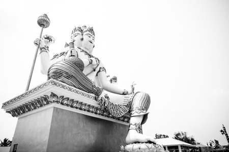 god's cow: Large Deity with black and white color Stock Photo