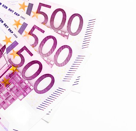 Business concept with euro currency, money isolated on white
