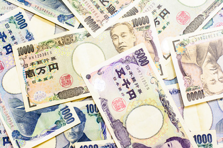 Success and got profit from business with Japanese currency background