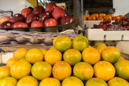 market stall: Orange for sale at market stall