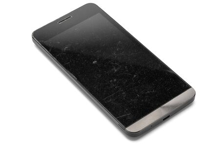 scratches: Smart Phone with scratches on the screen