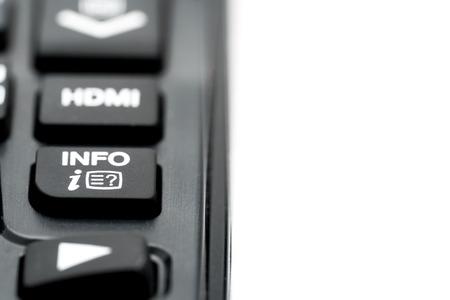 info button: info button on remote control