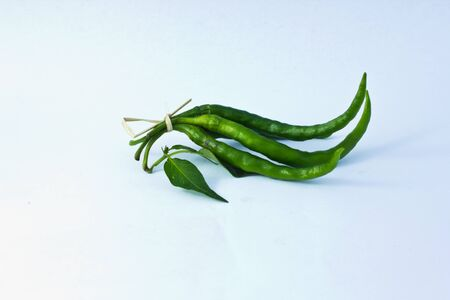 Bunch of green chilli