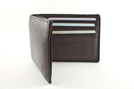 Man wallet isolated on white background Stock Photo