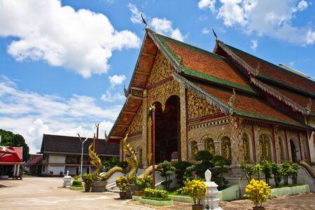 Old church, Wat Jet Yod, Chiang Rai, Thailand Editorial
