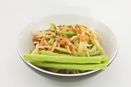 Thai papaya spicy salad or know as Som Tum