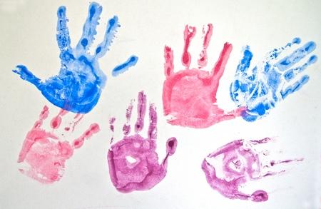Set of hand prints Stock Photo - 12008463