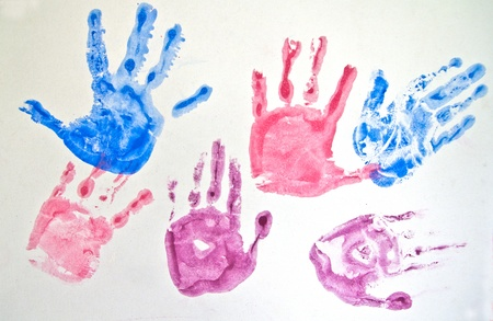 Set of hand prints Stock Photo - 12008463