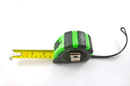 Single green and black tape measure