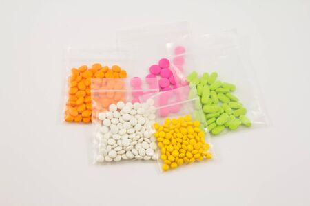 various kinds of medicine pills photo