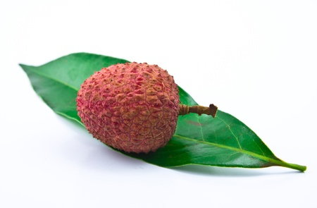 lichee: Fresh lychees isolated on white Stock Photo
