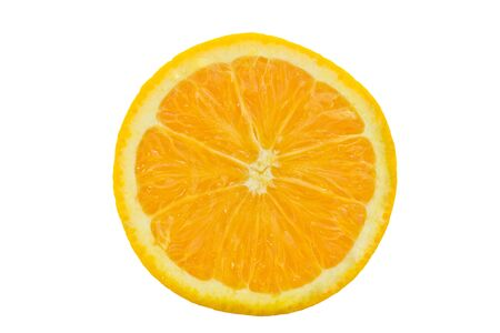slice of orange isolated on white background photo