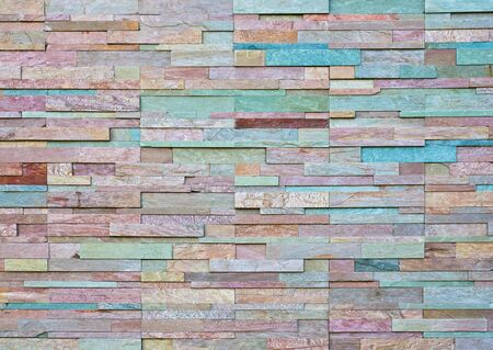 Pattern of Modern stone Brick Wall  photo