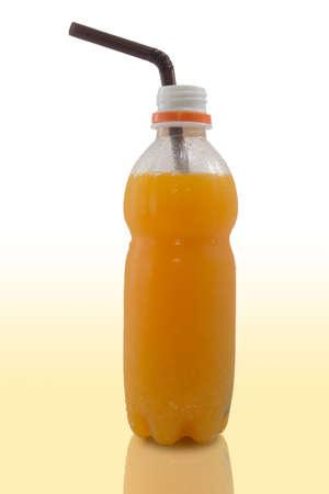 juice bottle: fresh orange juice bottle