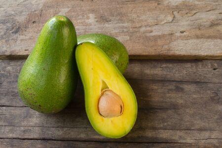 avocado on wood background