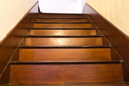 classic wood stair Stock Photo